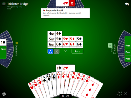 Trickster Bridge game